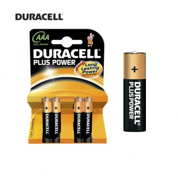 Pila duracell plus lr03 aaa (blister 4 pilas)